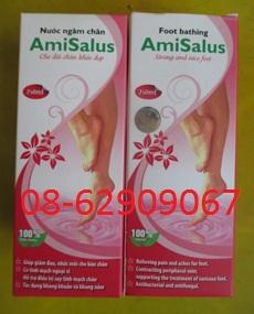 Nước NGÂM CHÂN-tuần hoàn máu tốt, ngừa suy giãn tĩnh mạch-hiệu AMI SALUD