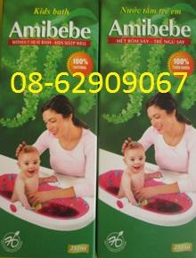 Bán Sản phẩm AMIBEBE- nước tắm em bé- làm hết rôm sảy, ăn ngủ tốt