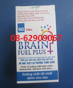 Bán sản phẩm BRAIN FUEL PHUS-Để Tăng trí nhớ, phòng tai biến, đột quỵ, bổ não