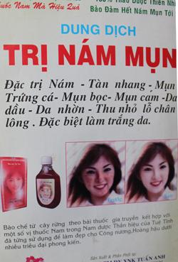 Dung dịch trị nám, tàn nhang, mụn-Hàng Việt -chất lượng