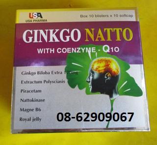 Bán GINKGO NATTO-Ngừa tai biến, đột quỵ, làm tan máu đông, Tăng trí nhớ-tốt