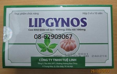 Bán sản phẩm ổn huyết áp, hạ cholesterol, ngừa xơ vữa động mạch-LIPGYNOS