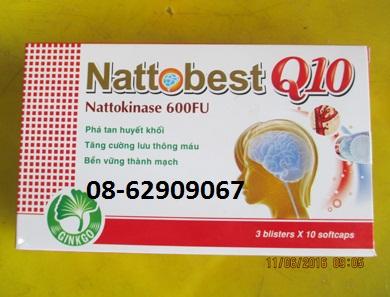 NATTOBEST Q10- Làm tan máu đông, phòng ngừa tai biến, tăng trí nhớ