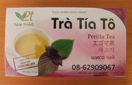 Trà Tía Tô-Để phòng chống dị ứng thức ăn, giảm ho tốt