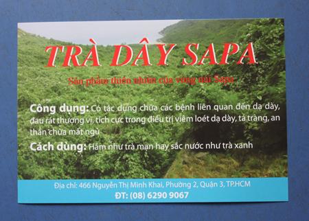 Trà dây SAPA-chữa dạ dày, tá tràng-ăn ngủ tốt